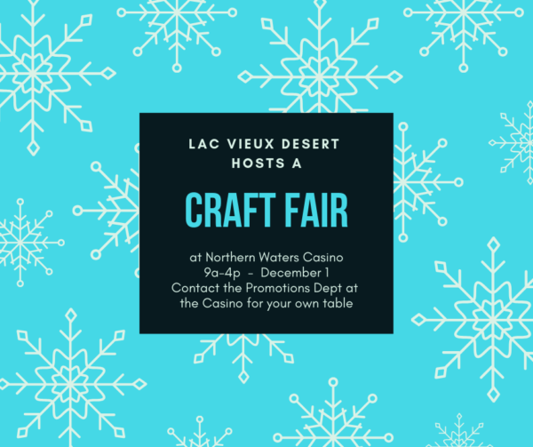 Lac Vieux Desert Tribe Hosts Craft Fair