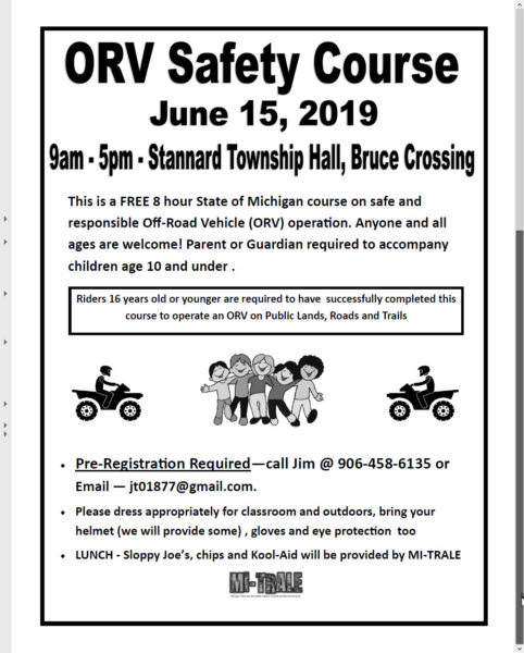 MI-TRALE ORV Safety Course